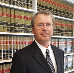 Melvin C. McDowell, Attorney at Law in law library at Bedford County Courthouse